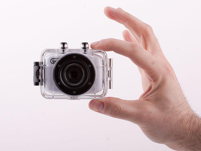 Mini Camera Subacquea : Videocamera sport hd con custodia subaquea trevi go hd bianco