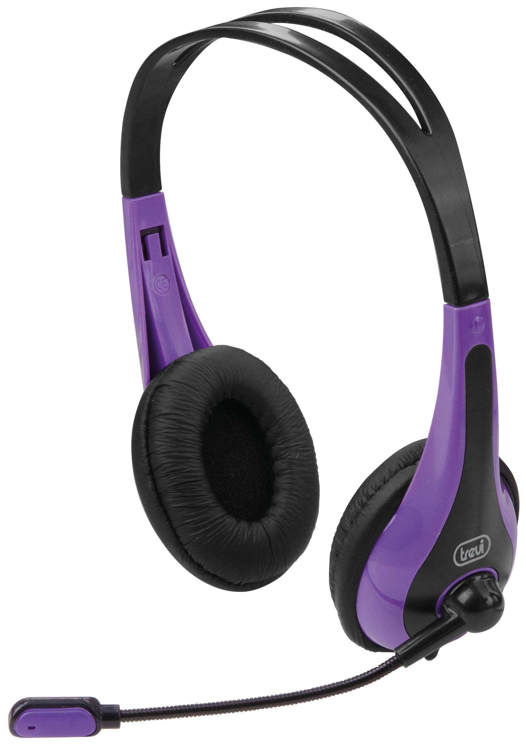 Cuffie Stereo con Microfono TREVI SK 644 S Viola eda08ecd8fbe