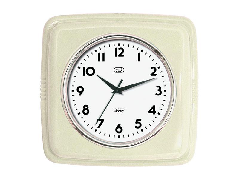 Orologio da parete Retrò 24 cm. Trevi OM 3312 S Bianco