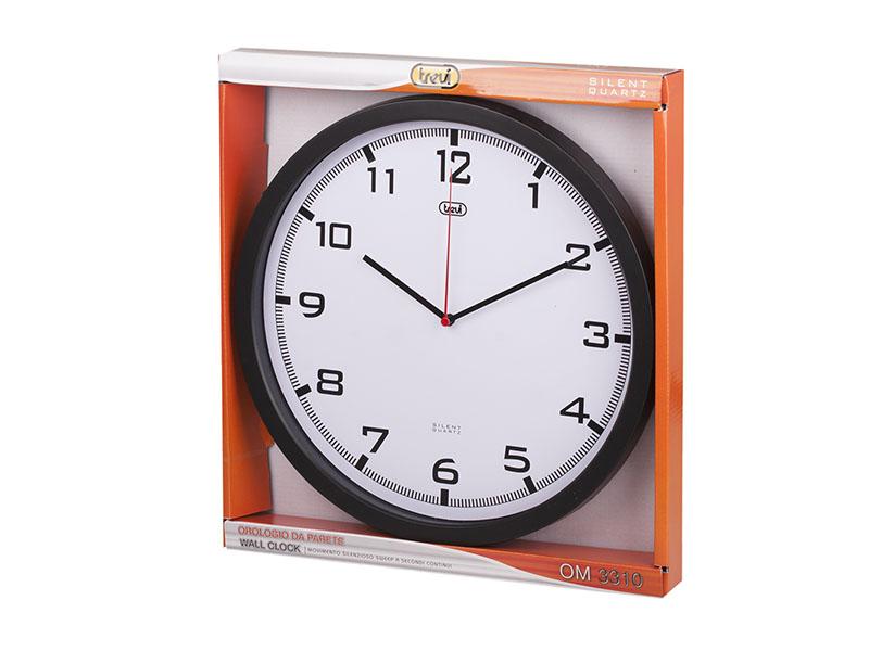 Orologio da parete 35 cm. Trevi OM 3310 Nero