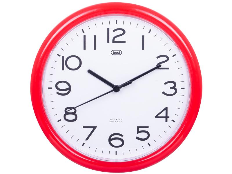 Orologio da parete 24 cm Trevi OM 3301 Rosso