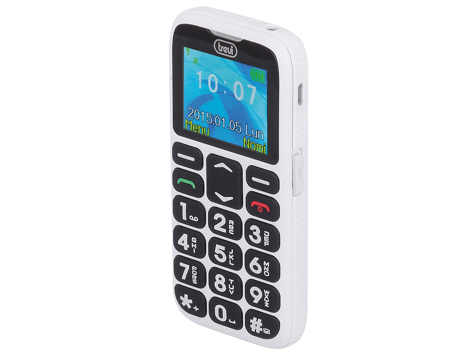 Telefono cellulare per anziani con tasti grandi trevi - Smartphone con tasti ...